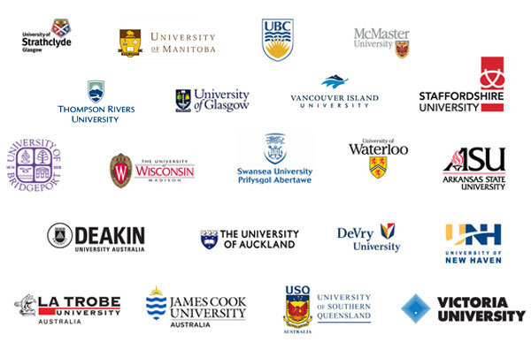 Top Universities - University of British Columbia, McMaster, Manitoba, Waterloo, Glasgow, Strathclyde